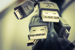 USB Cable Plug Stock Image