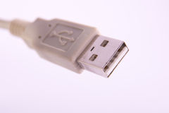USB cable plug connector Royalty Free Stock Photography