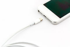 USB cable for smartphone. Royalty Free Stock Image
