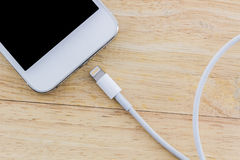 USB cable for smartphone. Stock Photos
