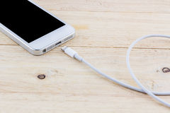 USB cable for smartphone. Royalty Free Stock Images