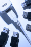 USB Cable and USB Port Stock Image
