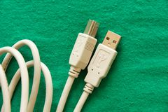 Usb cable Royalty Free Stock Images