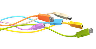 USB Cables Stock Images