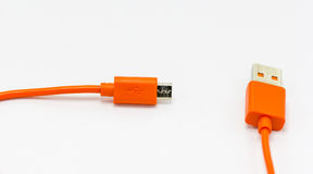 USB cables. for connection different technology devices Royalty Free Stock Photo