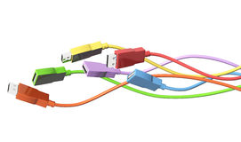 USB cables Royalty Free Stock Photography