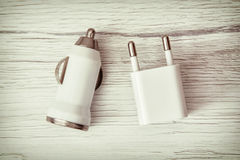 Usb car charger, charging device Royalty Free Stock Image