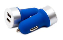 USB car charger Royalty Free Stock Images
