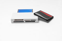 Usb card reader. For cf memory cards Stock Images