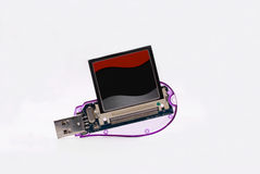 Usb card reader. For cf memory cards Royalty Free Stock Image