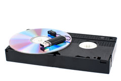 USB, CD, VHS Stockfotografie