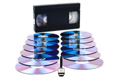 USB, CD and VHS. Royalty Free Stock Image