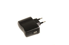 USB charger isolated on a white background Royalty Free Stock Photography