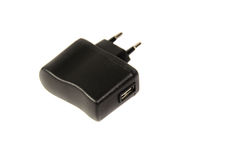 USB charger isolated on a white background Royalty Free Stock Image
