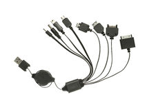 USB charging plugs Royalty Free Stock Image