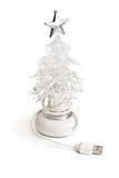 Usb christmas tree. Photo of isolated on white usb christmas tree Royalty Free Stock Photo