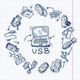Usb and computer Stock Images