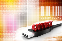 Usb With Connect Illustration Stock Photos