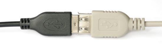 USB connection Stock Photography