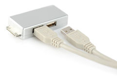 USB connection cable and adapter Stock Photography