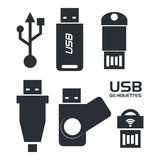 Usb connection design vector illustration eps10 graphic Stock Images