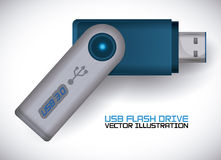 Usb connection design vector illustration eps10 graphic Royalty Free Stock Photos