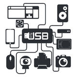Usb connection design vector illustration eps10 graphic Royalty Free Stock Image