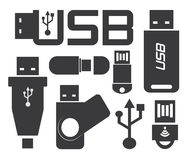 Usb connection Stock Image