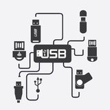 Usb connection Stock Photos
