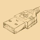 Usb connection Royalty Free Stock Photo
