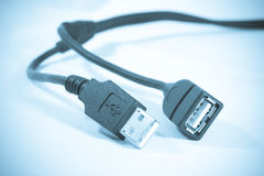 USB connector. Male and female  USB connectors Stock Photography