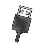 usb connector isolated icon Stock Image