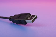USB cord macro Royalty Free Stock Photo