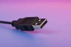 USB Cord Macro Royalty Free Stock Photo