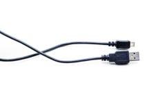 Usb cord, mini usb. Stock Photos