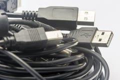 USB Cords Stock Photo