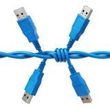 USB czopuje wewnątrz formę drut kolczasty royalty ilustracja