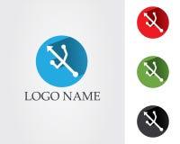 Usb dane interneta kabla symbole i logo ilustracji