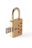USB Data Security Locked Stock Images