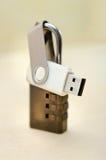 USB-Daumen-Antrieb mit Schlüsselverschluß Lizenzfreies Stockbild