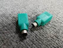 usb de souris de converti à ps2 photo libre de droits