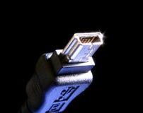 USB della macchina fotografica di Digitahi immagini stock