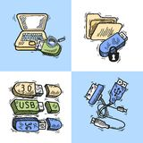 Usb design concept Royalty Free Stock Images