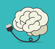 USB design, vector illustration. Stock Photo