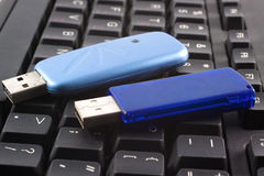USB devices over keyboard Stock Images