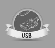 USB digital design Stock Images