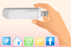 Usb dongle Stock Images