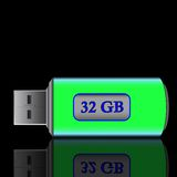 Usb drive. An illustration of usb drive pen Royalty Free Stock Images