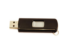 USB drive. A usb drive isolated on a white background Stock Photo