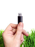 USB Drive in a Hand Royalty Free Stock Photos